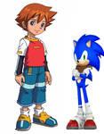 Chris meets Sonic again on Sonic boom by Teaganm