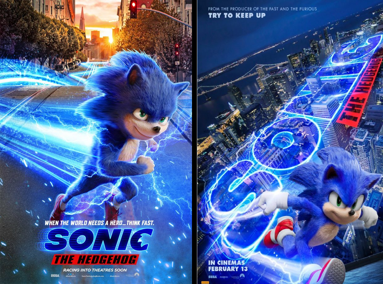 Before And After Sonic Movie Poster By Teaganm On Deviantart