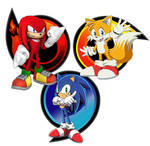 sonic heroes Sonic Tails and Knuckles