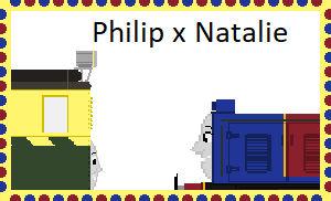 Philip x Natalie stamps