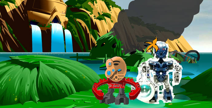 A birthday gift: Bionicle put flower on Vhisola