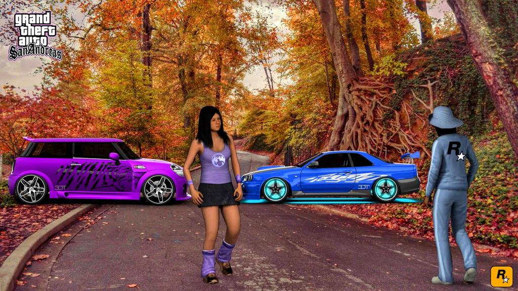 gta sa hd girls street racers by skills2800 on deviantart
