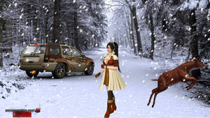 Momiji Snow-day