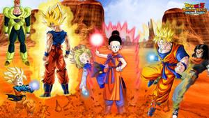 Future Goku Family vs The Androids