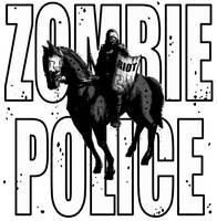 Zombie Riot Police T Shirt by LunglessArt