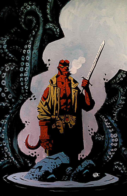 Hellboy by LunglessArt