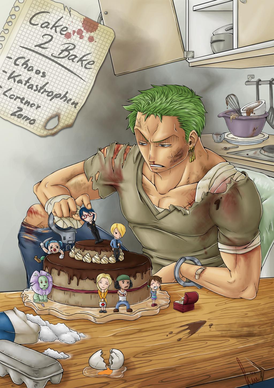 Zoro Birthday Cake