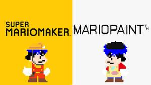 Super Mario Maker Goemon and Mario Paint Goemon by Ruensor