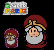 New paper mario the master by Ruensor