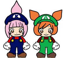 Kat and Ana Mario Bros arcade by Ruensor