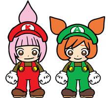 Kat and Ana Super Mario Bros by Ruensor