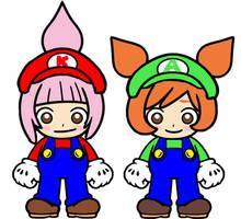 Kat and Ana Super Mario Bros 2 by Ruensor