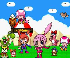 Best mushroom kingdom heros ever! by Ruensor