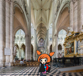 Vampire Ana in a Cathedral