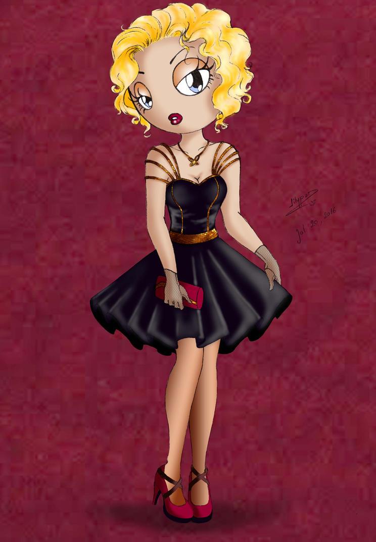 Elegante en petite robe noire by Lilypadfairy