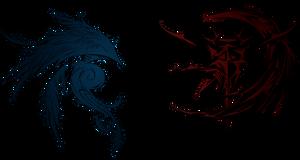 Dissidia Final Fantasy Cosmos and Chaos logos