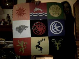 ASOIAF construction paper quilt