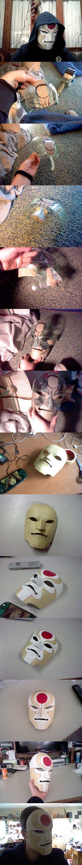 Amon Mask (Made from a soda bottle and pasta box)