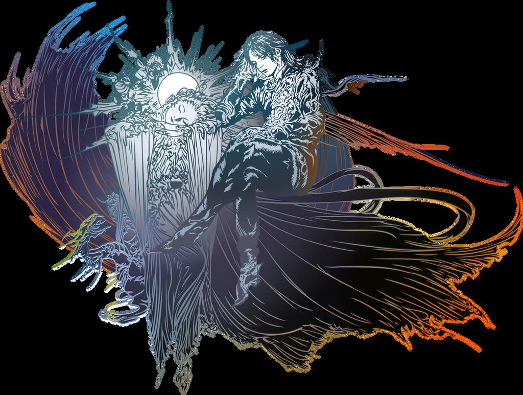 Final Fantasy Xv Logo Post Credits By Eldi13 On Deviantart
