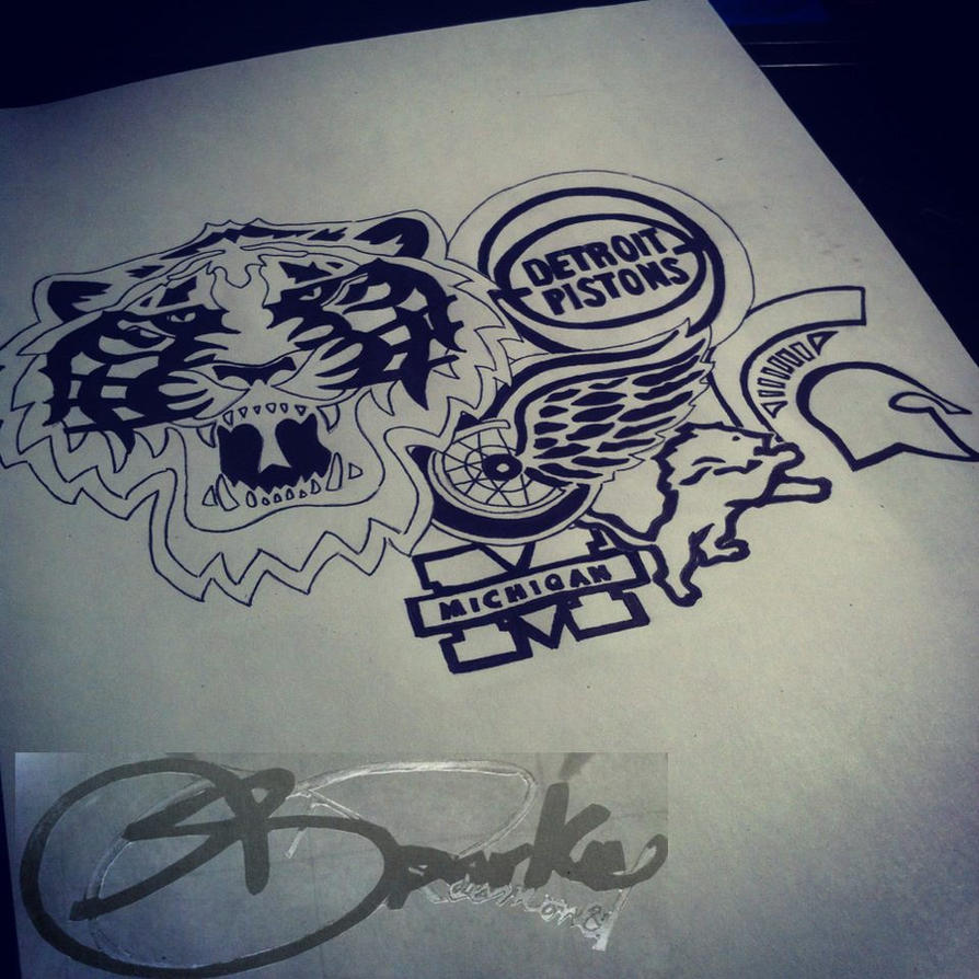 Detroit sports tattoo 2 by donteventripbro on deviantart for Detroit tattoo shops