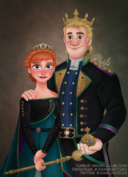 The Queen and King of Arendelle