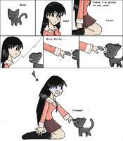 Miss Sakaki Vs. Kamineko by catgirl5472