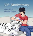 Ryo and Byakuen Enjoying the Fanzine