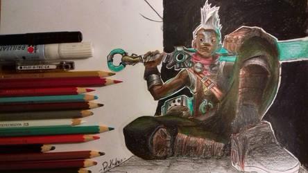 Ekko (colored) - League of legends by R1ckyFri3s