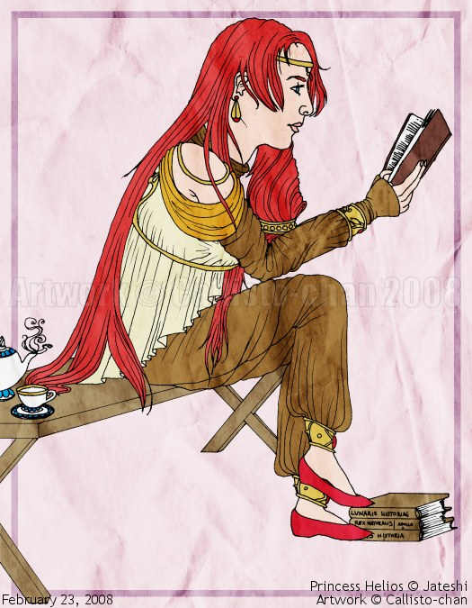 5 Sketches - Princess Helios by callisto-chan