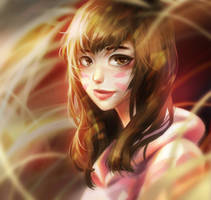 dva portrait by sleepcross