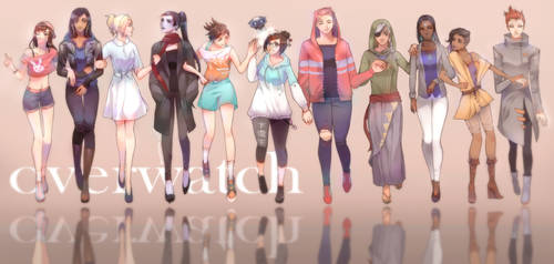 Overwatch Girls Casual Outfits