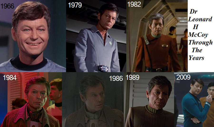 Leonard H McCoy through the Years by TheDreamLover on DeviantArt