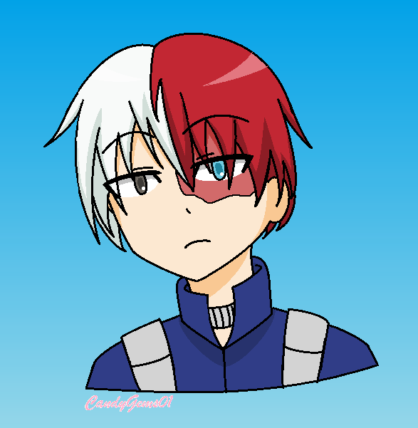 Todoroki Shouto (Boku no hero academia) by CandyGems01