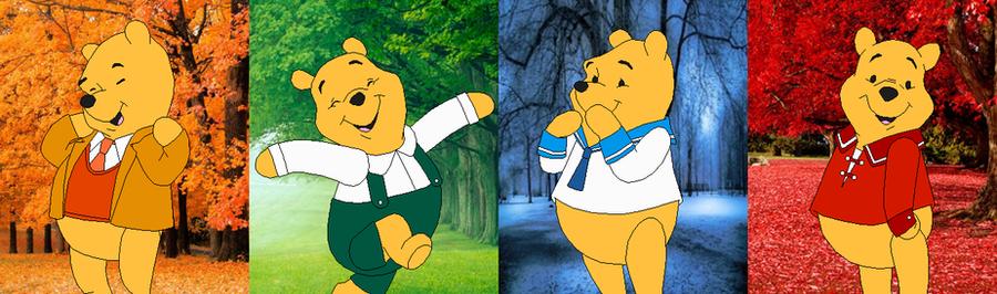 Color Spectrum Winnie the Pooh by SelenaEde on DeviantArt