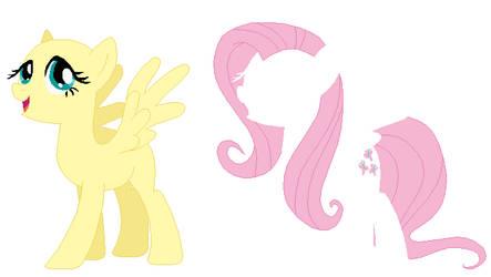 Fluttershy Base by SelenaEde