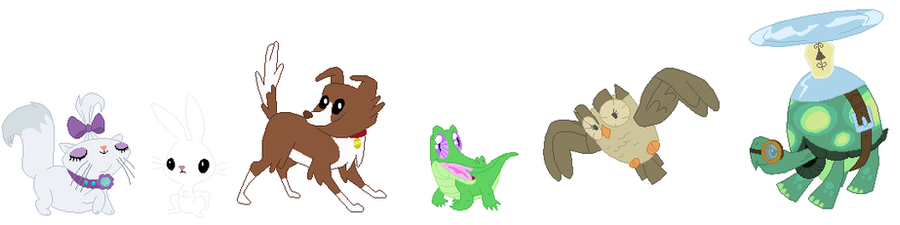 Mane Six Pets Base by SelenaEde on DeviantArt
