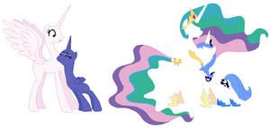 MLP Princesses Celestia and Luna Base 01