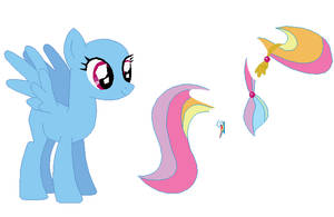 Crystal Pony Rainbow Dash Base by SelenaEde