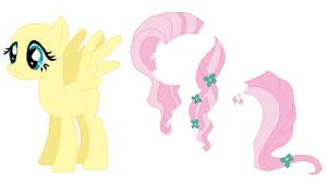 Crystal Pony Fluttershy Base by SelenaEde