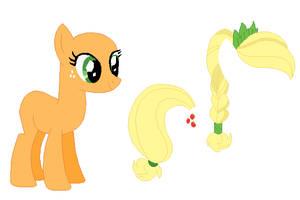 Crystal Pony Applejack Base by SelenaEde
