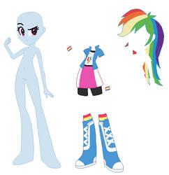 Equestria Girls Rainbow Dash Base by SelenaEde