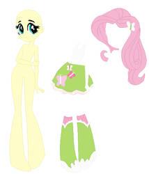 Equestria Girls Fluttershy Base by SelenaEde