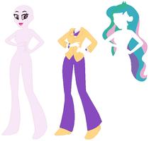 Equestria Girls Principal Celestia Base by SelenaEde