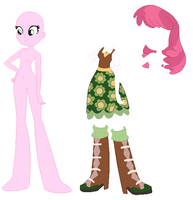 Equestria Girls Cheerilee Base by SelenaEde