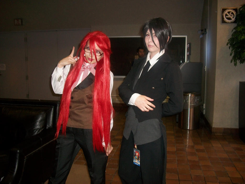 Grell and Sebastian - ConBravo Cosplay by SelenaEde