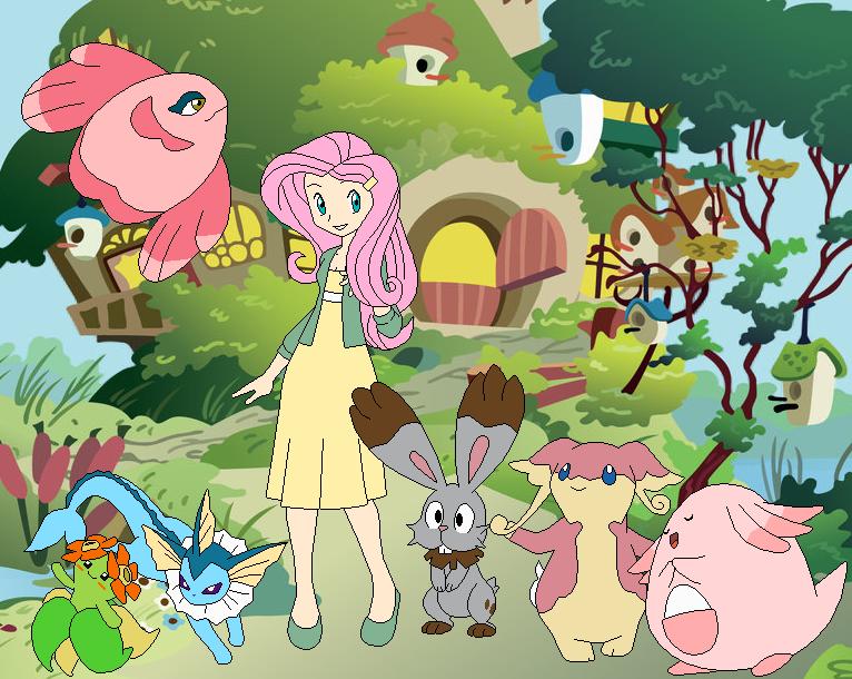 Fluttershy's Pokemon Team by SelenaEde