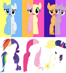 Switched Cutie Marks Base by SelenaEde