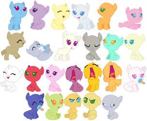Baby Foals Base by SelenaEde