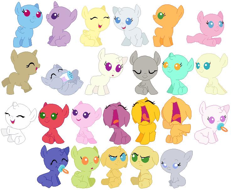 Baby Foals Base By SelenaEde On DeviantArt