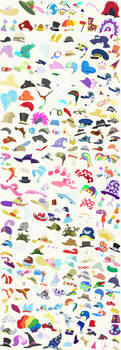 *~Updated*~ Hats - Accessory Sheet